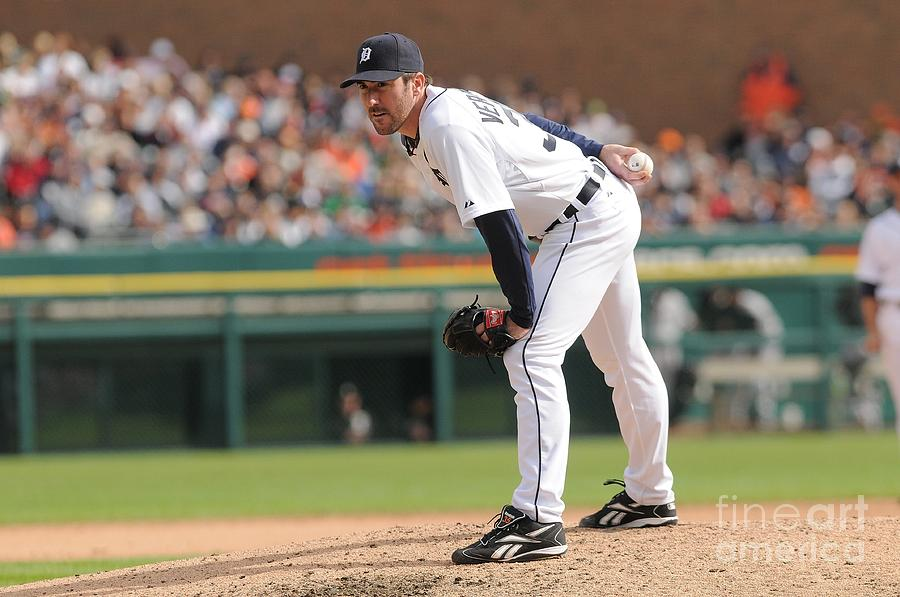 Justin Verlander Photograph by Mark Cunningham