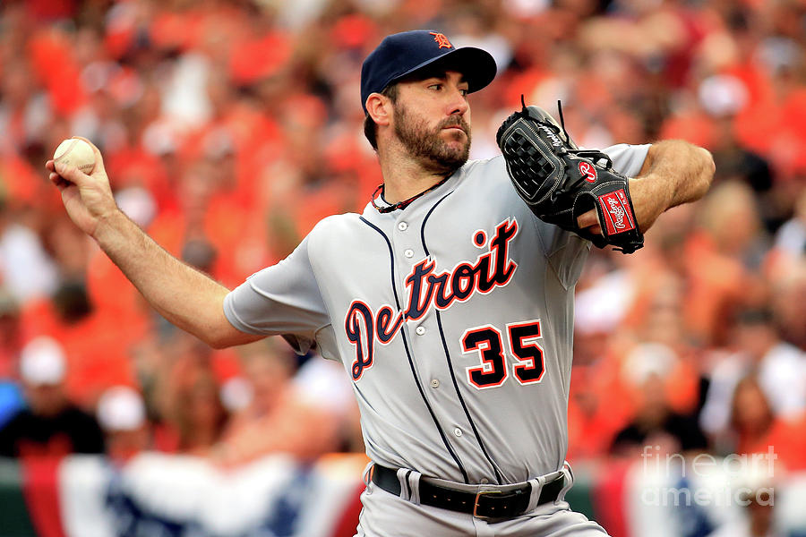 Justin Verlander Photograph by Rob Carr