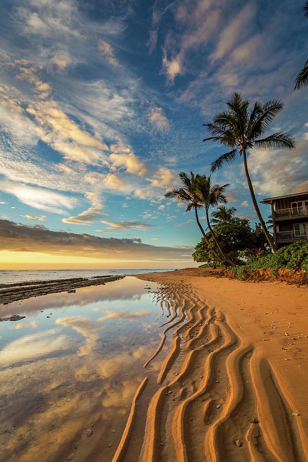 Kauai Beach Sunrise Photograph