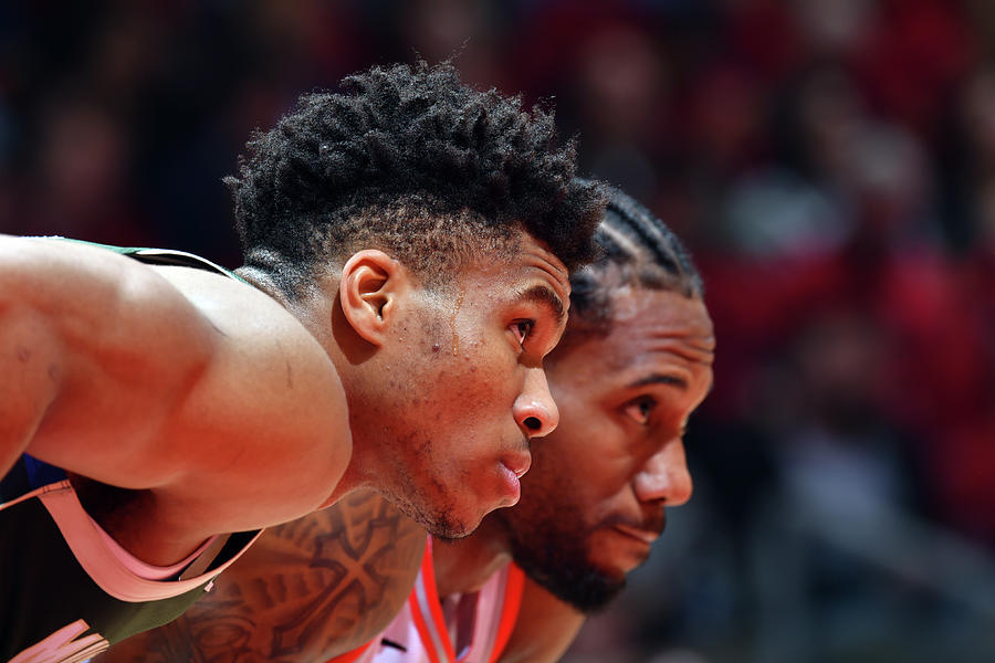 Kawhi Leonard and Giannis Antetokounmpo Photograph by Jesse D. Garrabrant