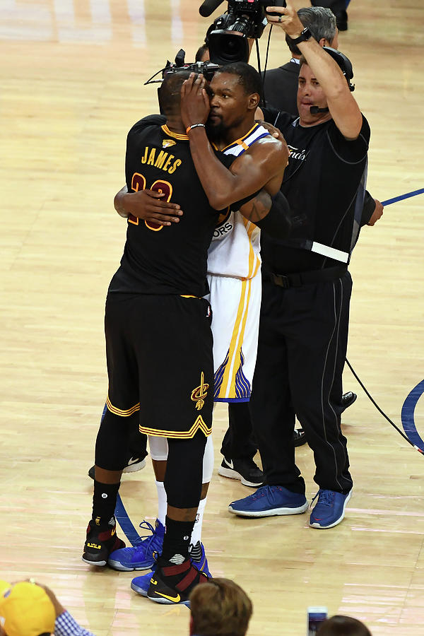 Kevin Durant and Lebron James Photograph by Garrett Ellwood
