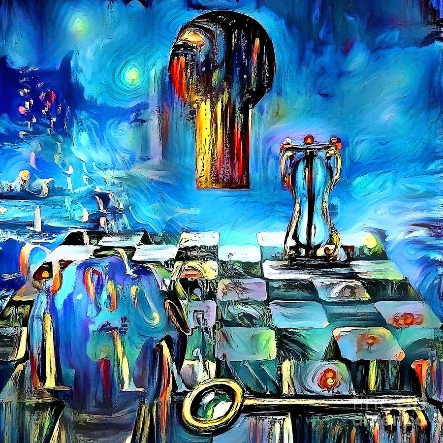 Keyhole And Binary Code Digital Art