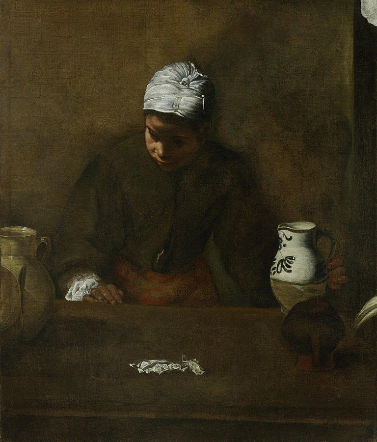 Kitchen Maid Painting By Diego Velazquez