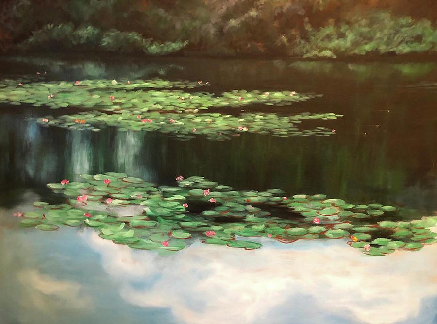 Shoreline Painting - Lake Lancaster by Diane Martens