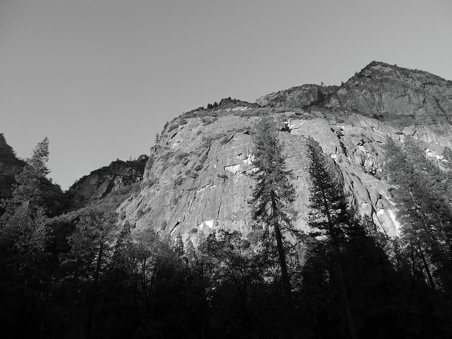 Late Afternoon Rock Face Photograph