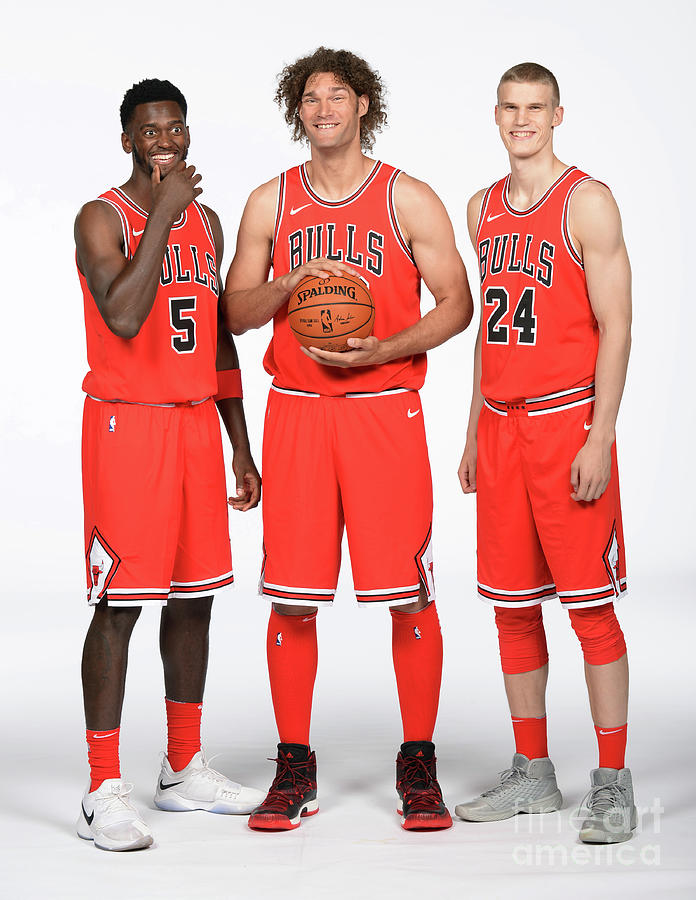 Lauri Markkanen, Bobby Portis, and Robin Lopez Photograph by Randy Belice