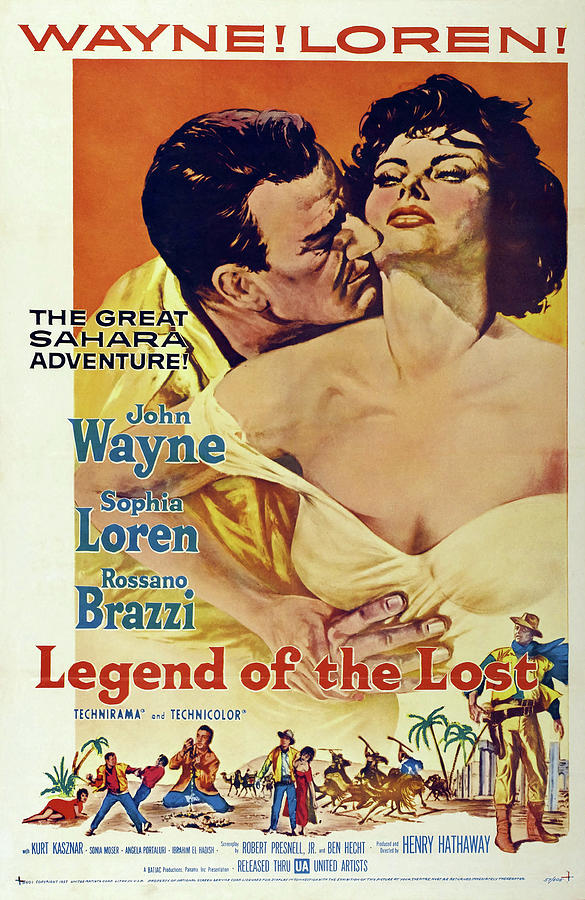 legend Of The Lost, With John Wayne And Sophia Loren, 1957 Mixed Media