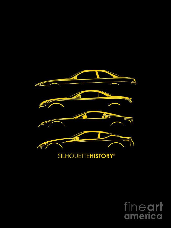 Lexury Sports Car SilhouetteHistory by Gabor Vida
