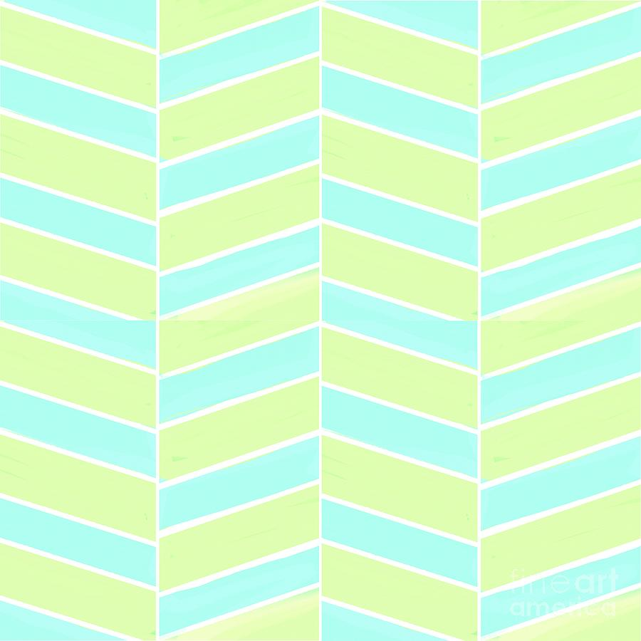 Lime Light Chevron Digital Art