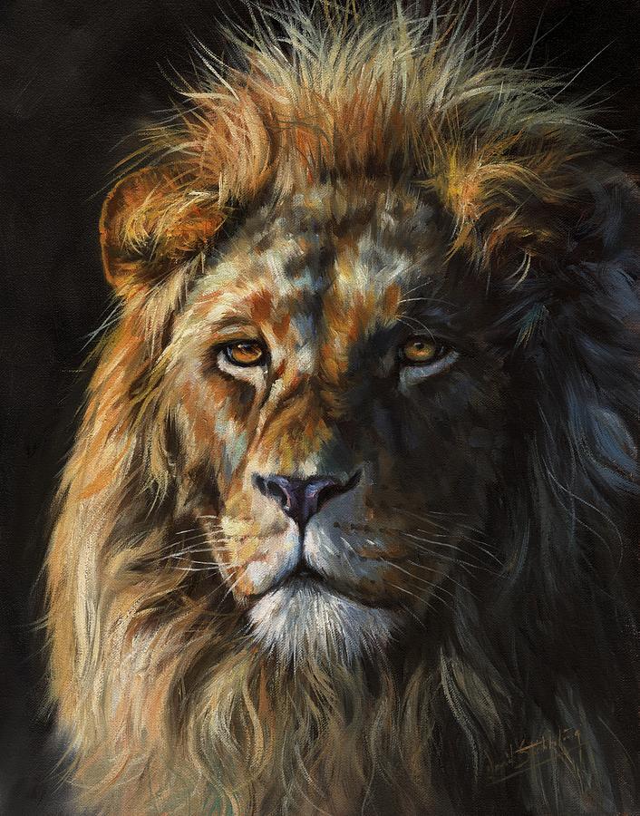 Lion Portrait Painting