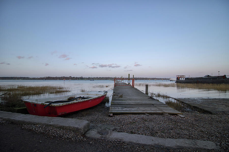 Little Red Boat Photograph