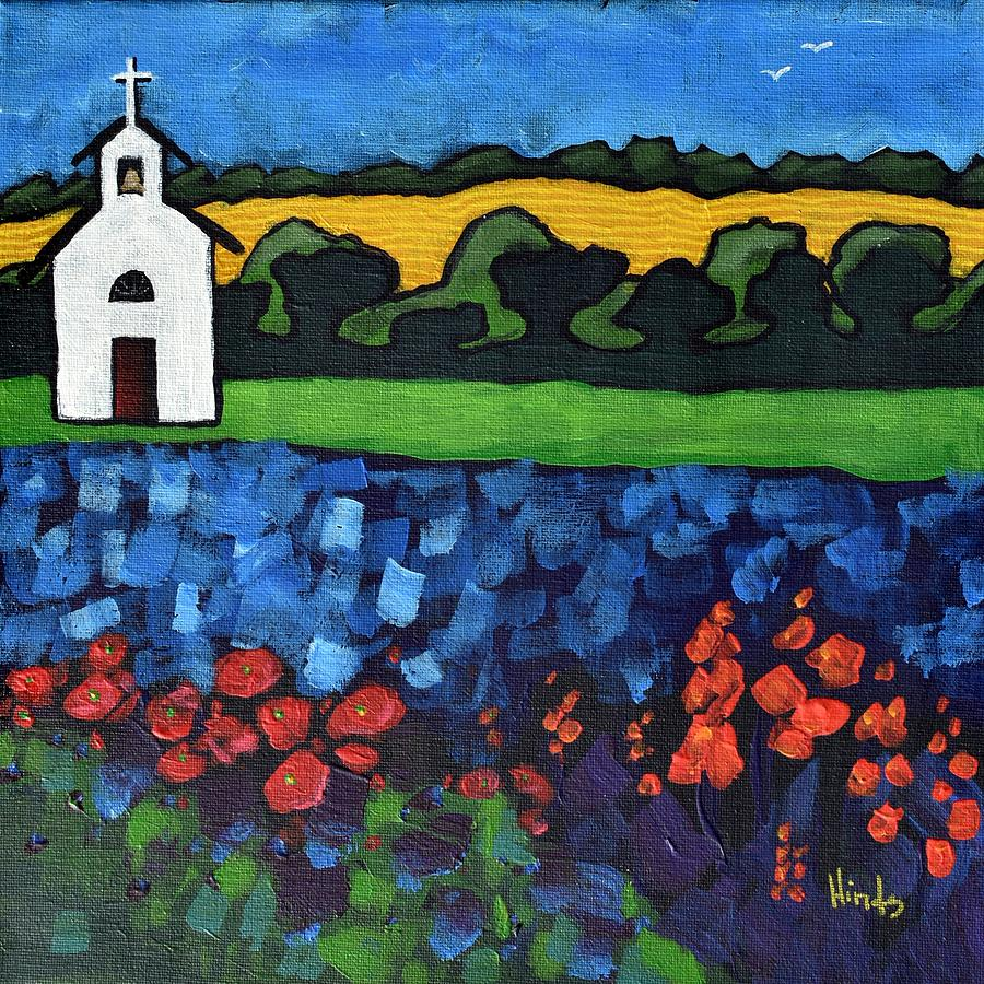 Little White Church Painting