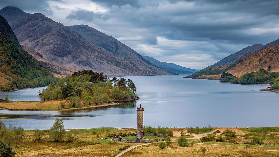 Loch Shiel And Glenfinnan Monument Photograph