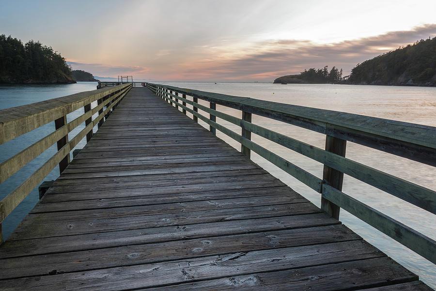 Deception Pass State Park Photograph - Long Pier by Kristopher Schoenleber