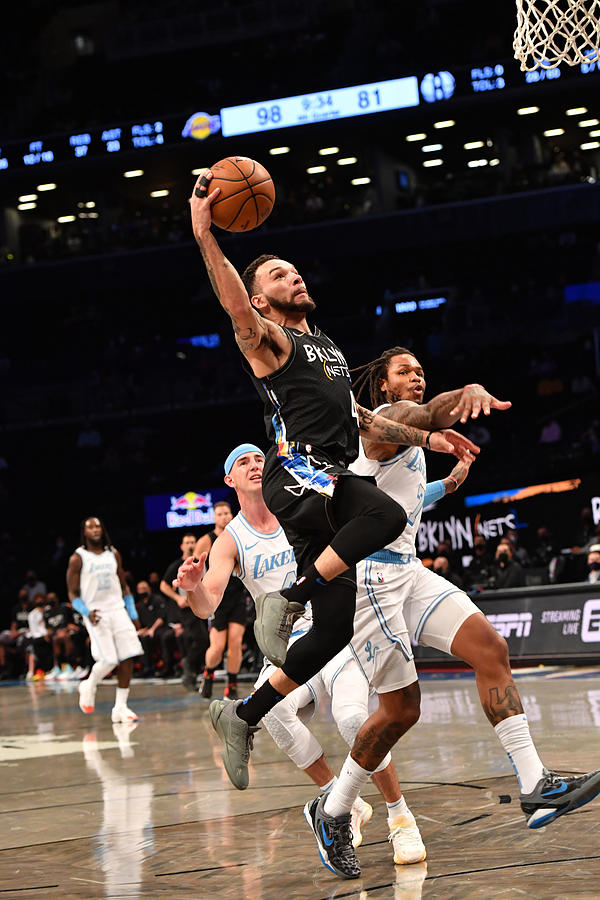 Los Angeles Lakers v Brooklyn Nets Photograph by Jesse D. Garrabrant