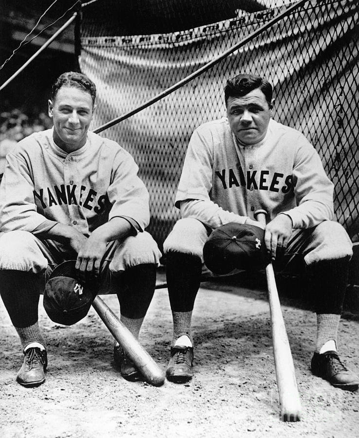Lou Gehrig and Babe Ruth Photograph by National Baseball Hall Of Fame Library