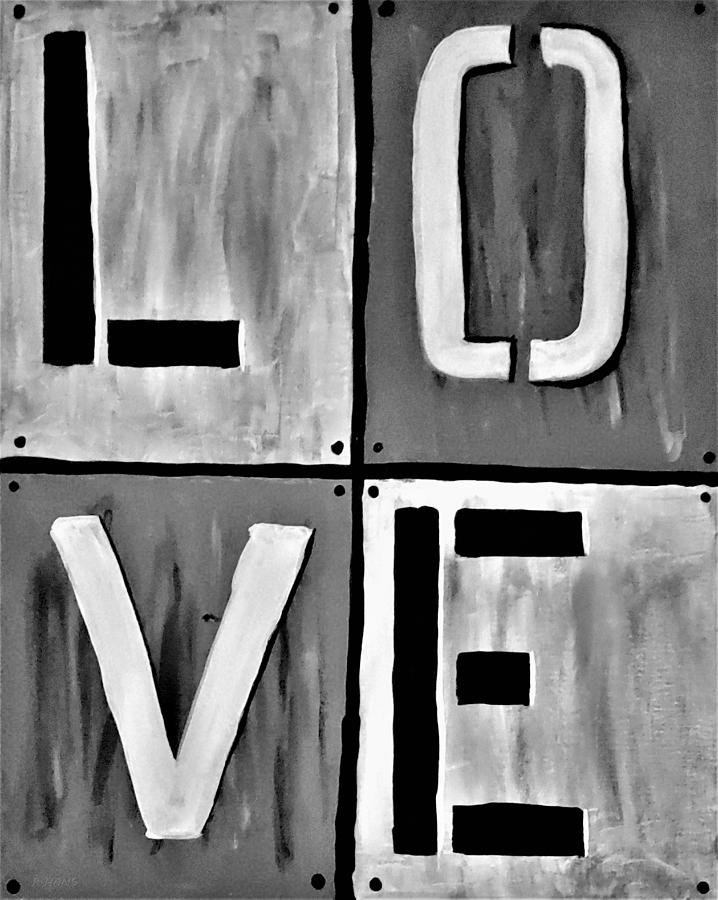 LOVE ART B W by Rob Hans