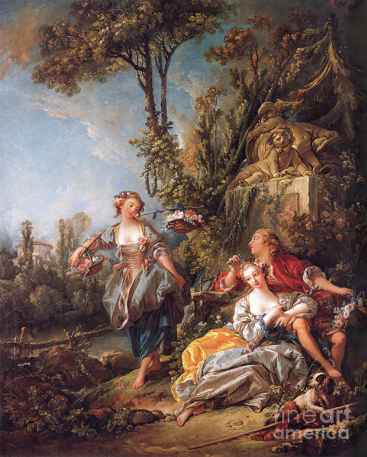 Lovers in a Park by Francois Boucher