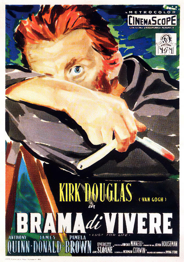 lust For Life, With Kirk Douglas, 1956 Mixed Media
