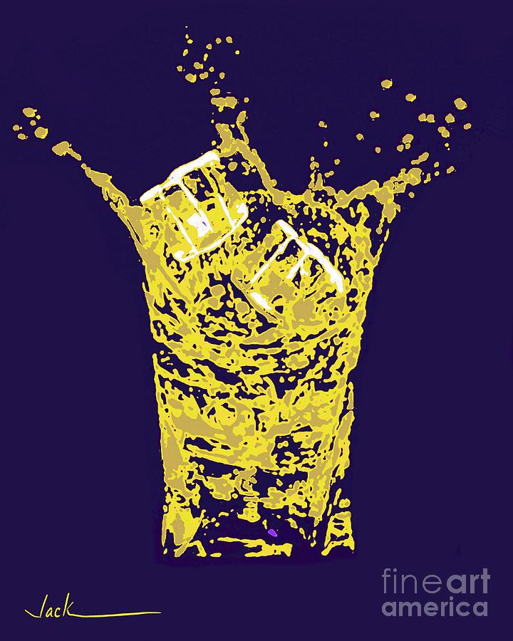Drink Painting - Make It A Double by Jack Bunds