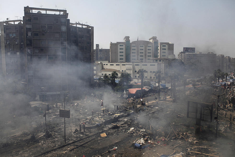 Many Feared Dead As Egyptian Security Forces Clear Cairo Protest Camps Photograph by Ed Giles