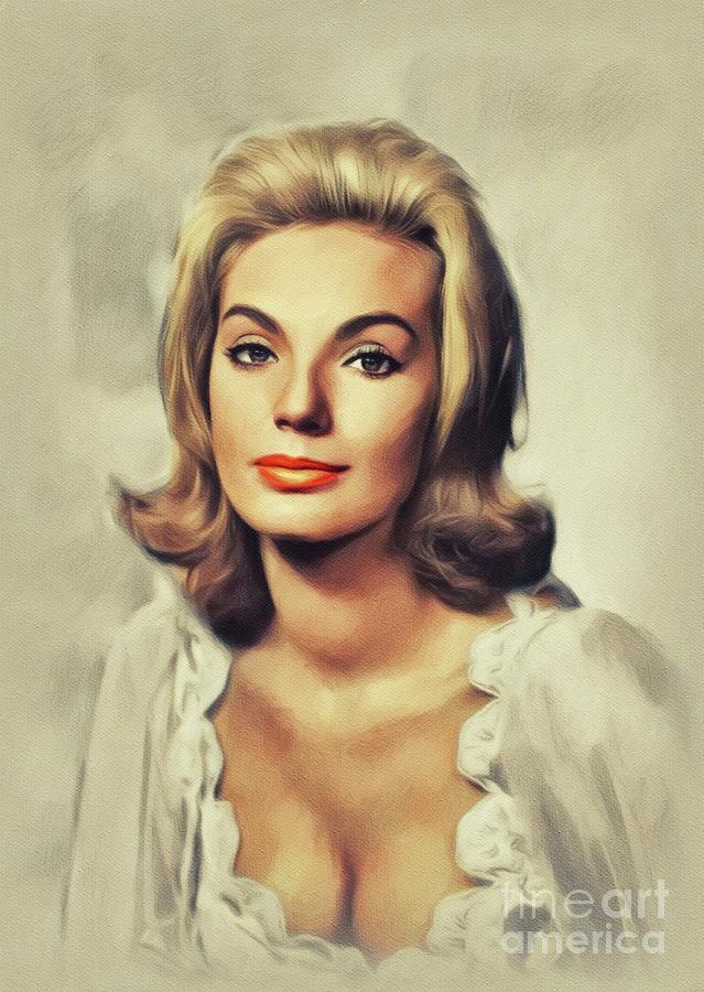 Maria Perschy, Vintage Actress Painting