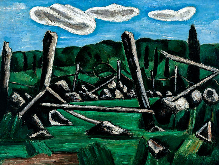 Marsden Hartley 1877 1943 The Old Bars Dogtown 1936 Painting