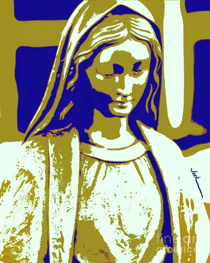 Mary Painting - Mary Statue Owasso by Jack Bunds