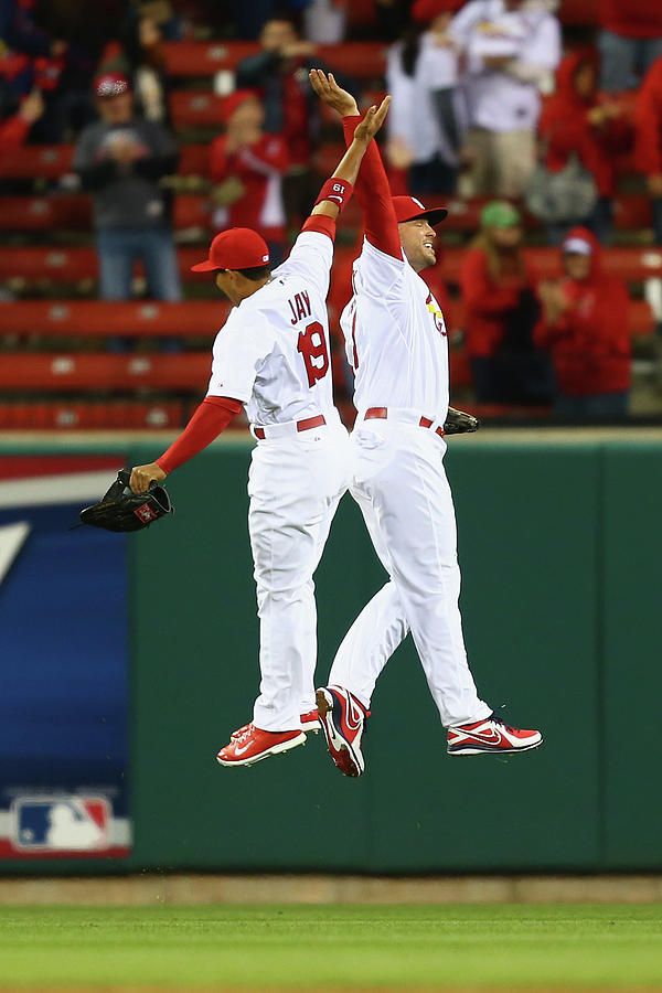 Matt Holliday and Jon Jay Photograph by Dilip Vishwanat