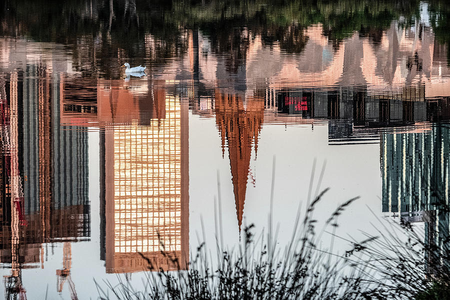Melbourne Photograph - Melbourne reflections  by Leigh Henningham