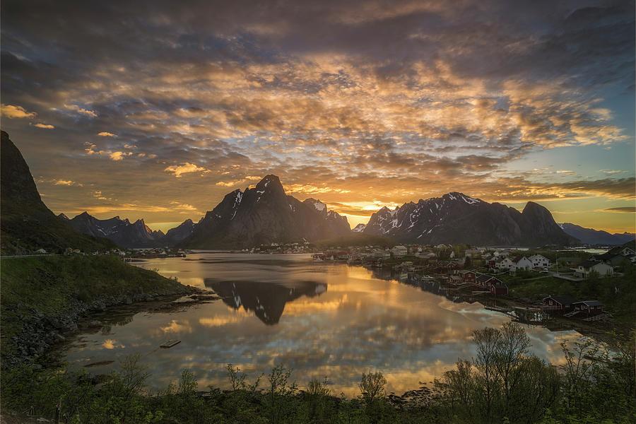 Midnight Sun In Reine Photograph