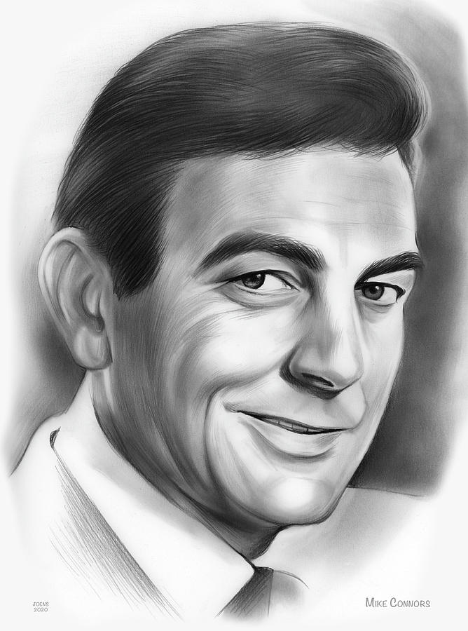 American Drawing - Mike Connors by Greg Joens