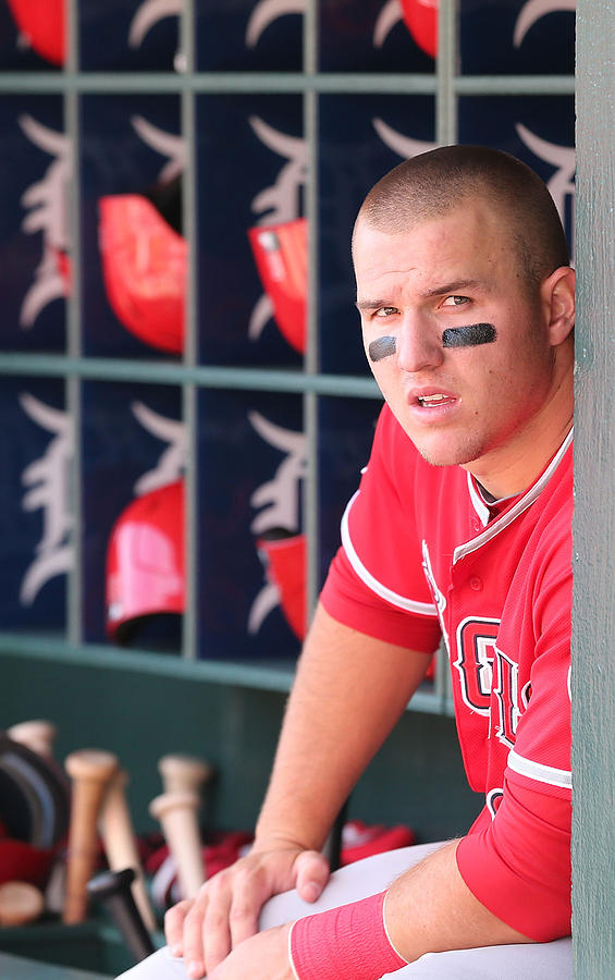 Mike Trout Photograph by Leon Halip