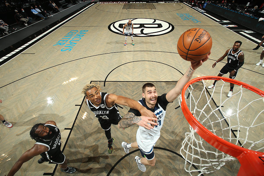 Minnesota Timberwolves v Brooklyn Nets Photograph by Nathaniel S. Butler