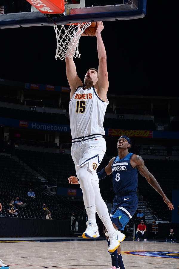 Minnesota Timberwolves v Denver Nuggets Photograph by Bart Young