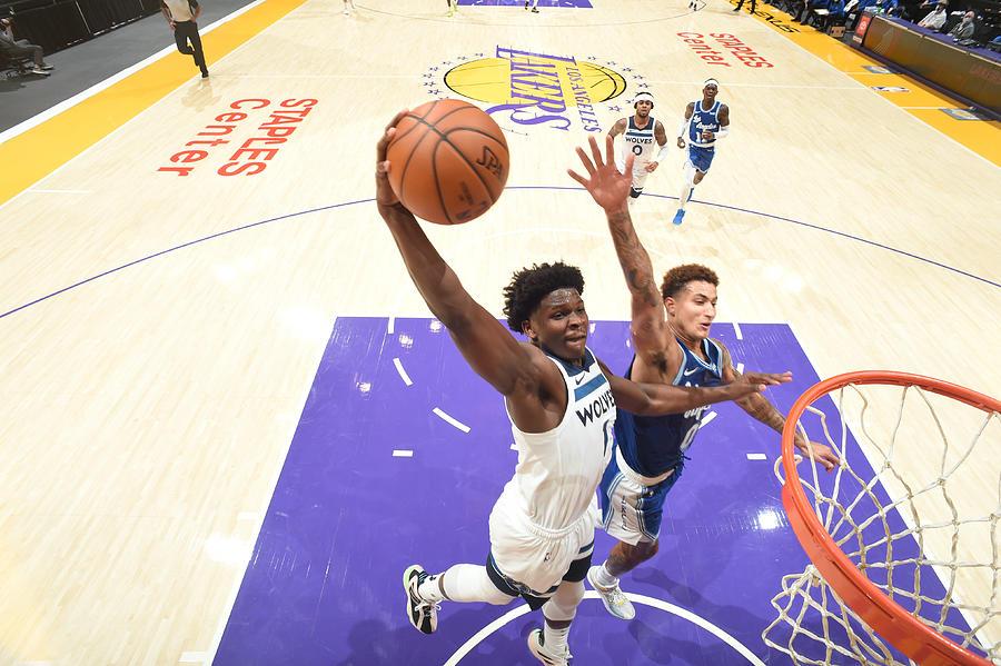 Minnesota Timberwolves v LA Lakers Photograph by Adam Pantozzi