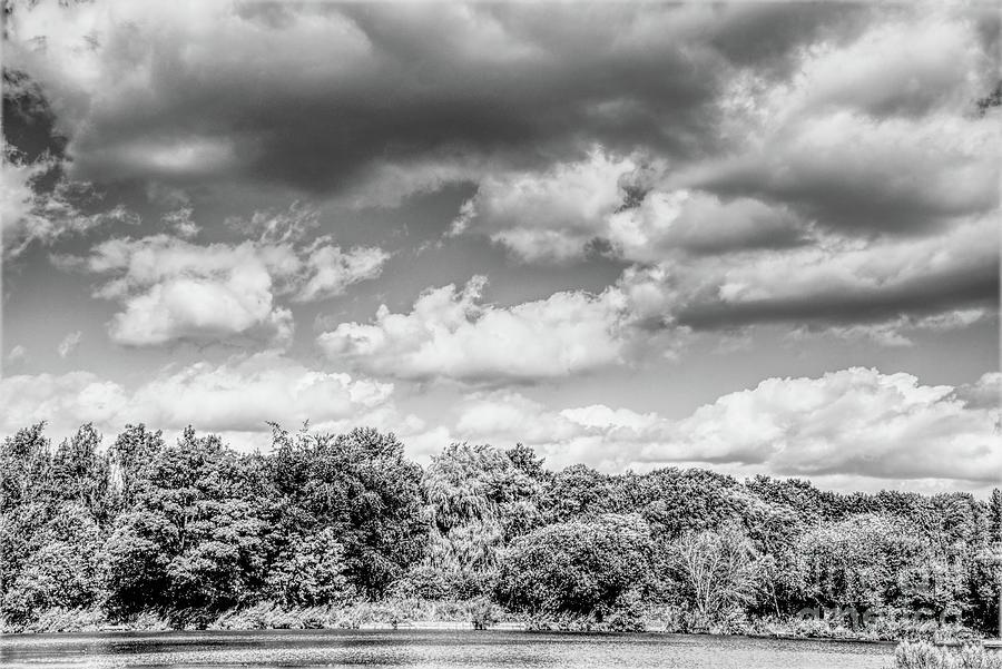 Monochrome Clouds Photograph