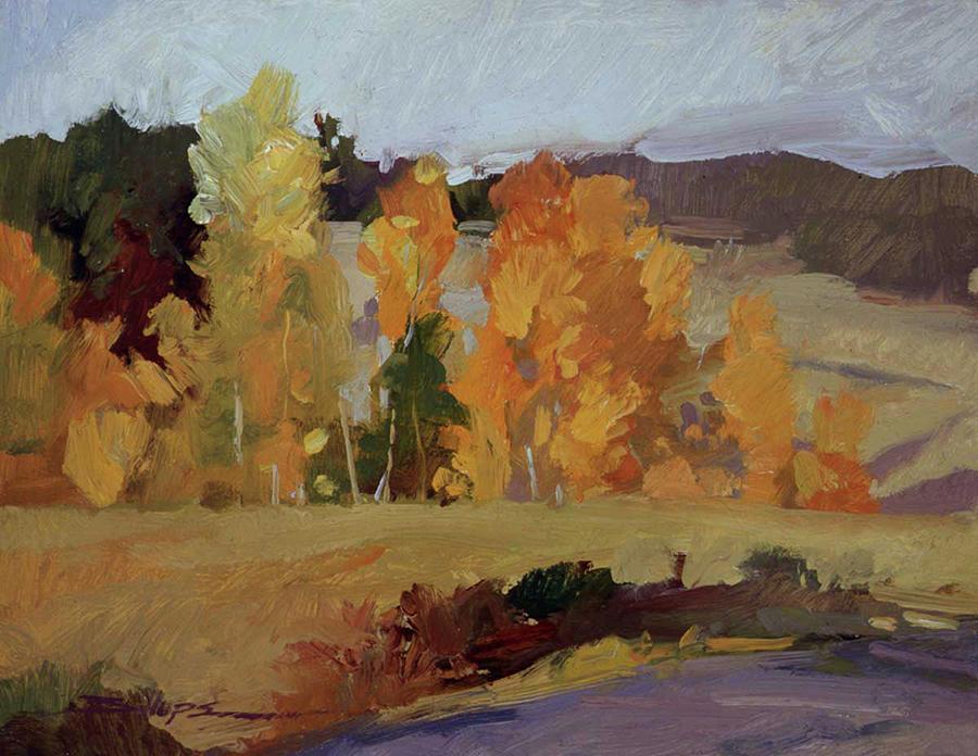 Montana Landscape Painting - Montana Autumn by Betty Jean Billups