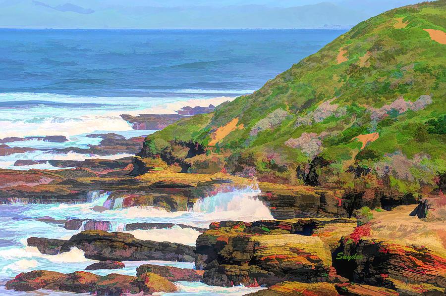 Montana De Oro Seascape Color Abstract Photograph