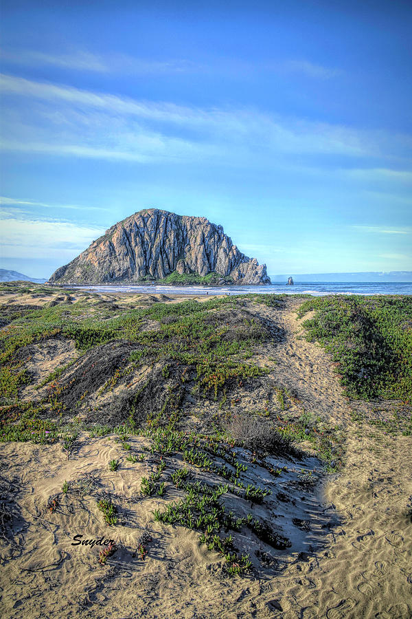Morro Rock From The Dunes North Photograph