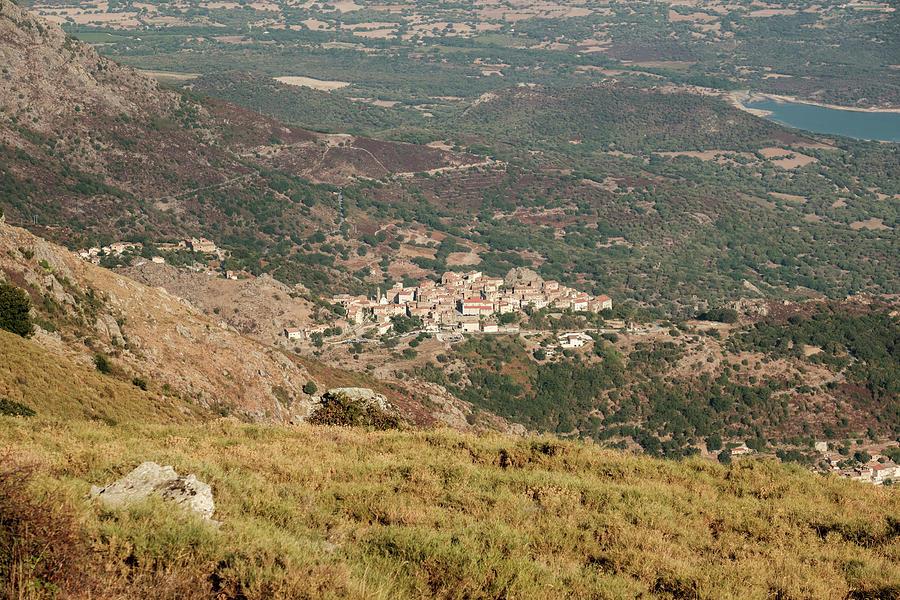 Mountain Village Of Speloncato In Corsica Photograph