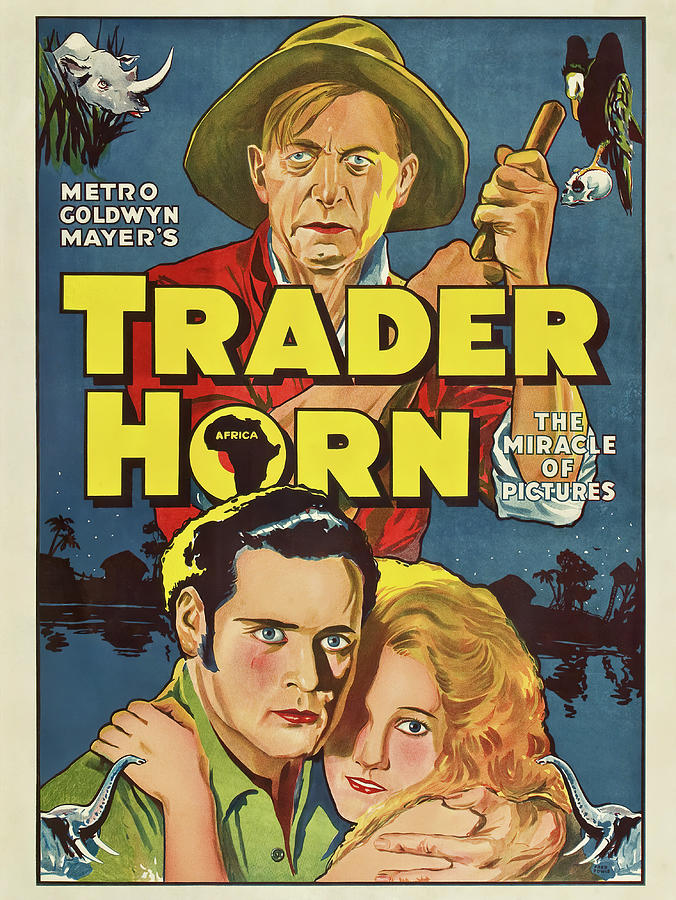 Movie Poster For trader Horn, 1931 Mixed Media