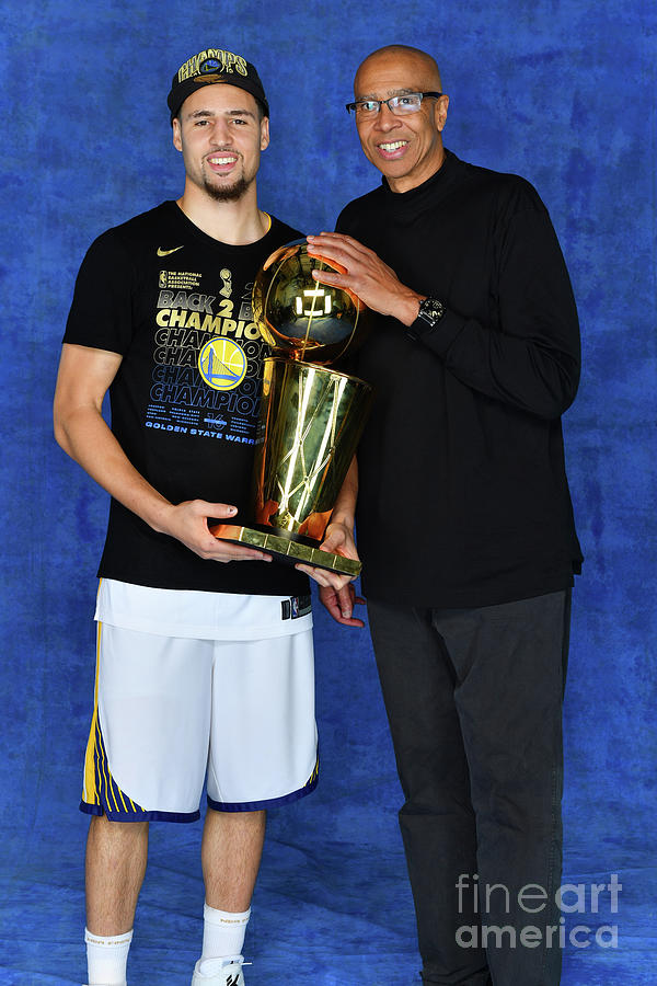 Mychal Thompson and Klay Thompson Photograph by Jesse D. Garrabrant