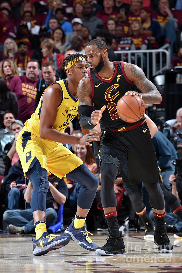 Myles Turner and Lebron James Photograph by David Liam Kyle