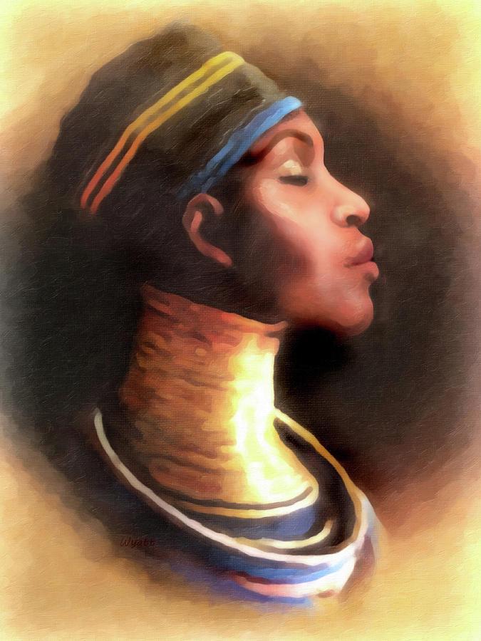 African Queen Digital Art - Ndebele Woman 2 - African Queen by Regina Wyatt
