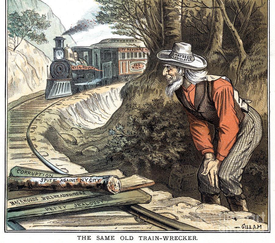 New York Political Cartoon, 1885 by Bernhard Gillam
