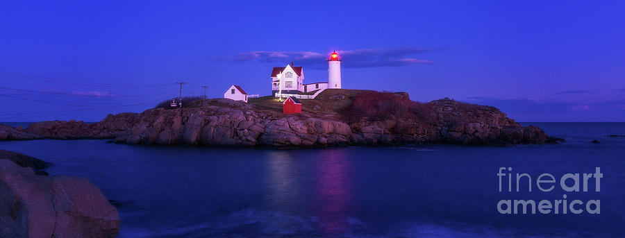 Night at Nubble Light by Sharon Seaward
