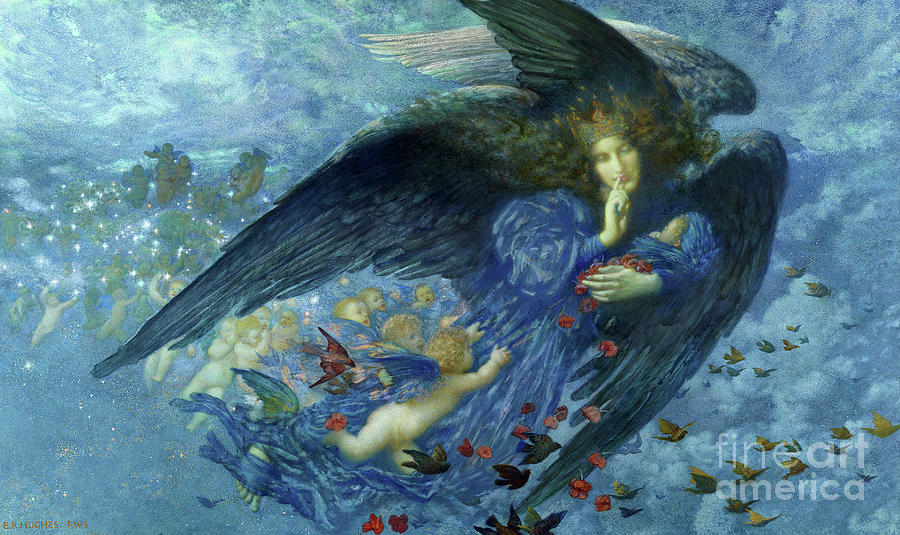 Night With Her Train Of Stars 1912 Painting