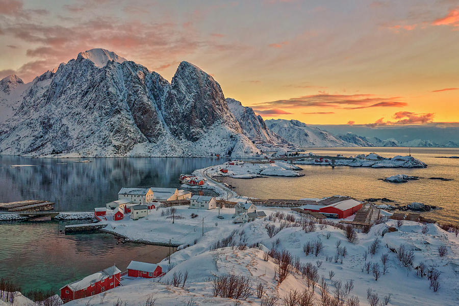 Architecture Photograph - Norwegian Morning by Jan Sieminski