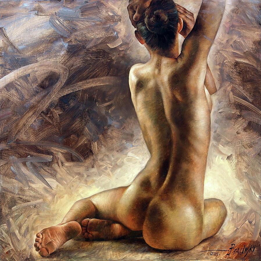Naked Lady Painting By Wanida Rangcakanok